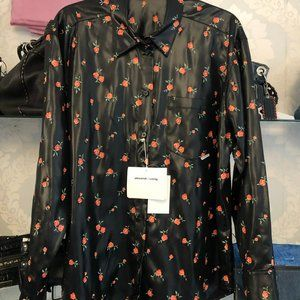ALEXANDER WANG Coral Floral Mens Button Down Shirt Style#1WC2191227